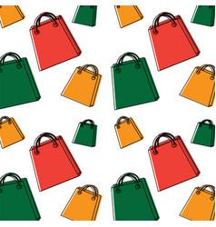 shopping bag pattern image vector image vector image