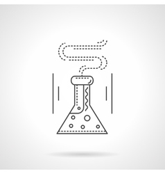 Laboratory flask flat line icon vector image