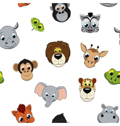 Pattern of funny animals vector image vector image