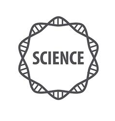 Round logo DNA science vector image vector image