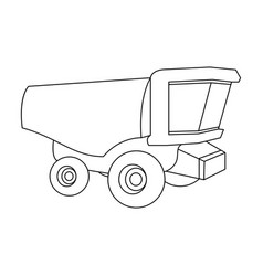 Truck with a large windshield agricultural vector