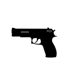 black silhouette of gun on a white background vector image