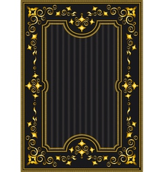 Classical gold frame with oriental pattern vector image vector image