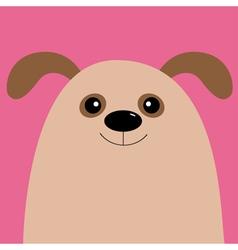 Dog head Cute cartoon character Pet baby vector image