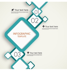 Infographic template with squares vector image