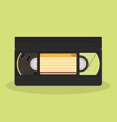 retro video cassette isolated on a white vector image vector image