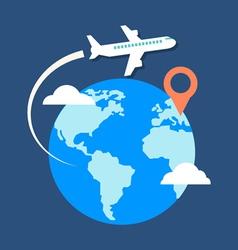 Travel destination concept Flat design stylish vector image vector image