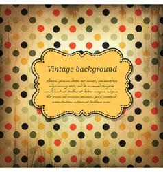 vintage card design with dot pattern vector image