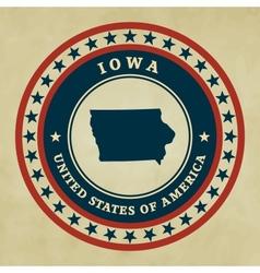 Vintage label Iowa vector image vector image