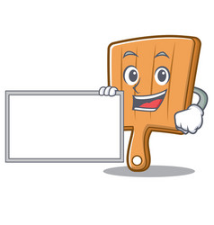 with board kitchen board character cartoon vector image