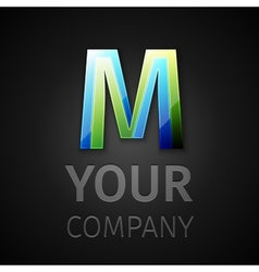 abstract logo letter M vector image