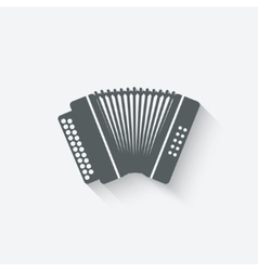 Accordion music design element vector