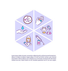 Antimicrobial resistance prevention concept icon vector