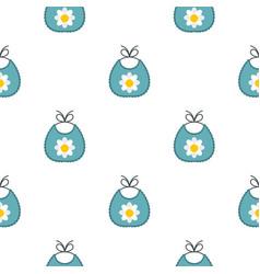 Baby bib pattern flat vector