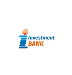 badge for investment bank vector image