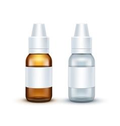 Blank Glass Medical Spray Bottle Isolated vector image