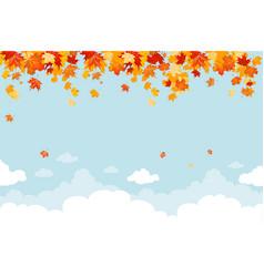 blue autumn sky vector image