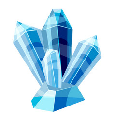 Blue crystals icon cartoon style vector