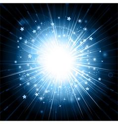 blue light explosion vector image
