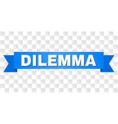 Blue stripe with dilemma caption vector