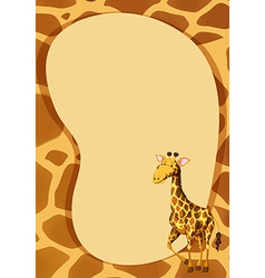 Border design with giraffe vector image