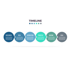 business infographics timeline with 6 steps vector image