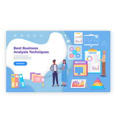 business site template charts diagrams pie and vector image