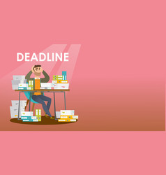 Businessman has a problem with a deadline vector