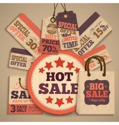 Cardboard sale design concept vector image