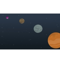 Cartoon space planet collection stock vector image