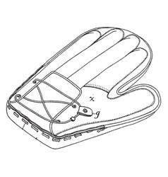 catchers mitt vintage vector image