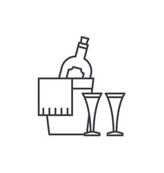 champagne line icon concept champagne vector image