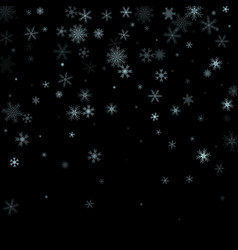 christmas falling snow isolated on dark vector image