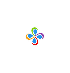 circle arrow colorful decorative logo vector image