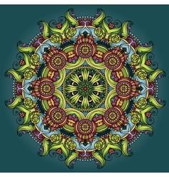 Circle decorative ornament vector image