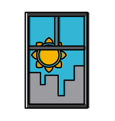 cityscape window view vector image