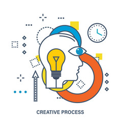 concept of creative process vector image