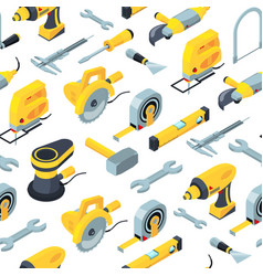 Construction tools isometric icons vector