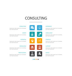 Consulting infographic 10 option conceptexpert vector