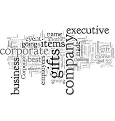 corporate executive gift vector image