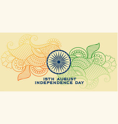 creative indian flag in paisley style vector image