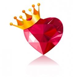 Crystal heart vector