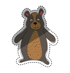 Cute bear cartoon vector