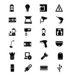 Electronics Solid Icons 4 vector image
