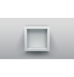 empty box shelf vector image