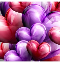 Flying balloon hearts vector