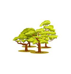Group of green trees icon vector