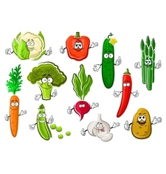 Healthful ripe farm vegetables set vector image