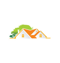 House green tree garden logo vector