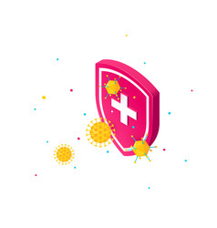Immune system concept isometric color icon vector